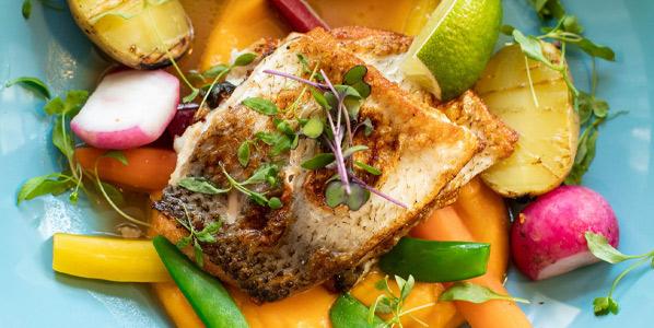 Speisekarte Fischgerichte